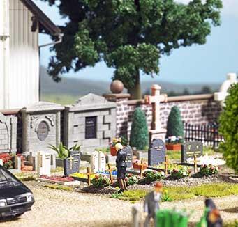 Busch op de begraafplaats