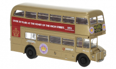 Brekina 61106 H0 AEC Routemaster goud 'Over 50 years at the hearth of the community'