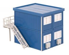 Faller 130134 H0 4 Bouwcontainers, blauw