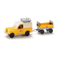 Wiking 01005 H0 Land Rover Defender met aanhangwagen van de PTT Post